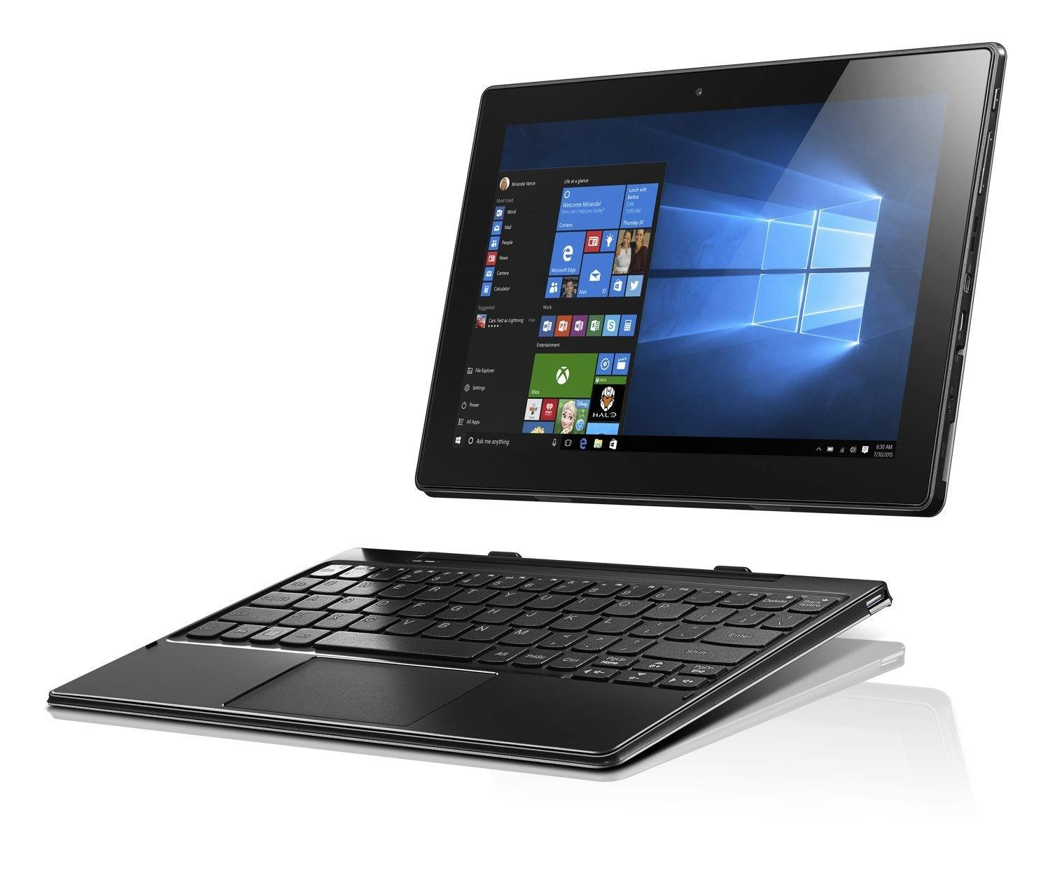 best tablets for writers and writing  lenovo miix 310 the keyboard detached image credit amazon
